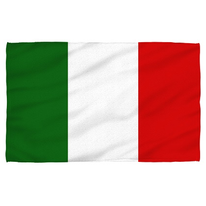 Italy Italian Flag Beach Towel