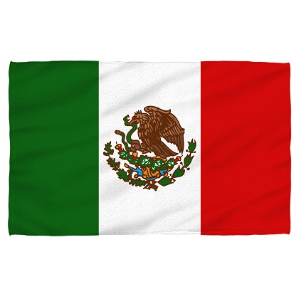 Mexico Mexican Flag Beach Towel