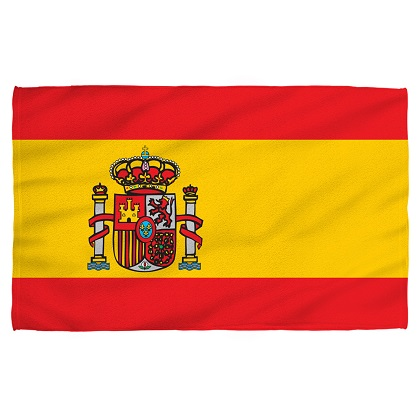 Spain Spanish Flag Beach Towel