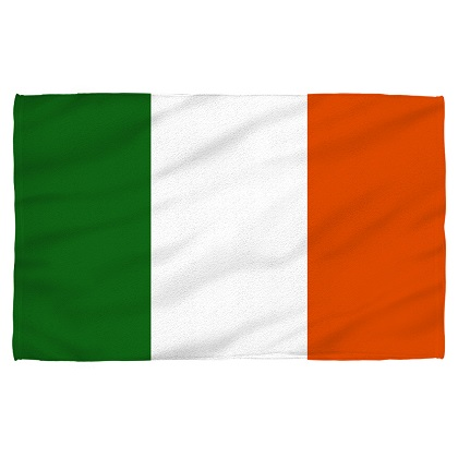 Irish Flag Beach Towel