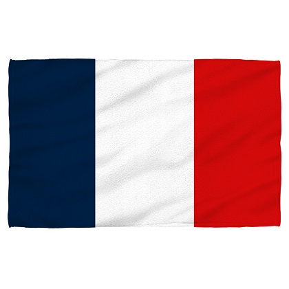France French Flag Beach Towel