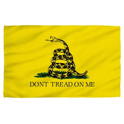 Patriotic Don't Tread On Me Beach Towel