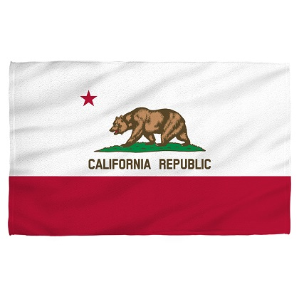 Patriotic California Republic Beach Towel