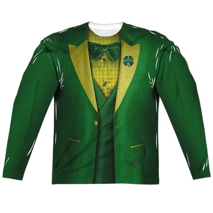 St Patricks Leprechaun Irish Suit Long Sleeve Costume Shirt
