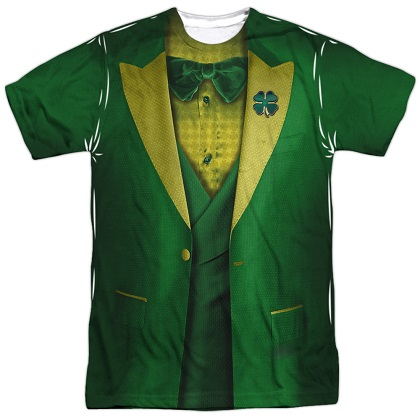 St Patricks Day Leprechaun Irish Suit Costume Tshirt