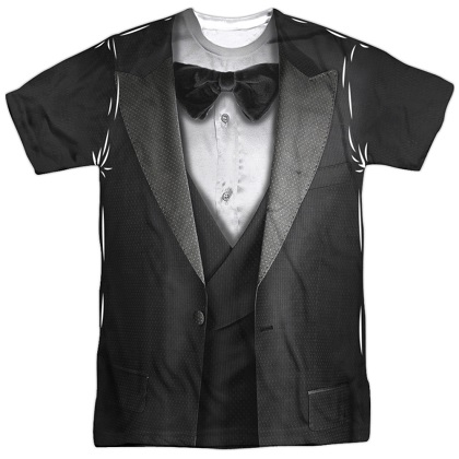 Tuxedo Front and Back Print Costume Tshirt