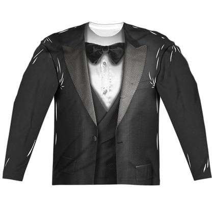 Tuxedo Long Sleeve Costume Shirt