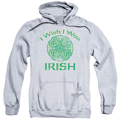 St. Patrick's Day Irish Wish Gray Pullover Hoodie