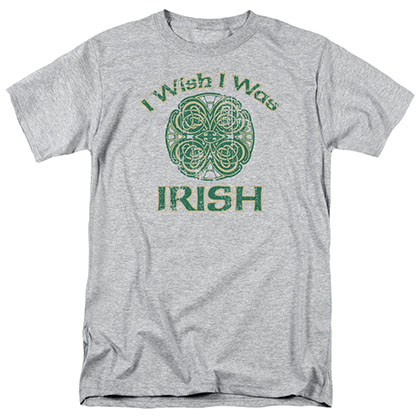 St. Patrick's Day Irish Wish Gray T-Shirt