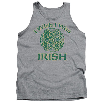 St. Patrick's Day Irish Wish Gray Tank Top