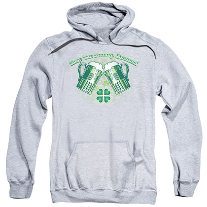 St. Patrick's Day Green Beer Gray Pullover Hoodie