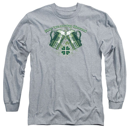 St. Patrick's Day Green Beer Gray Long Sleeve T-Shirt