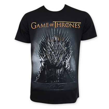 Game Of Thrones Men's Black Throne Tee Shirt