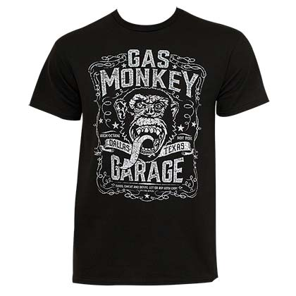 Gas Monkey Men's Black Dallas T-Shirt