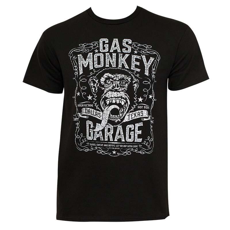 Gas Monkey Men's Black Dallas T-Shirt