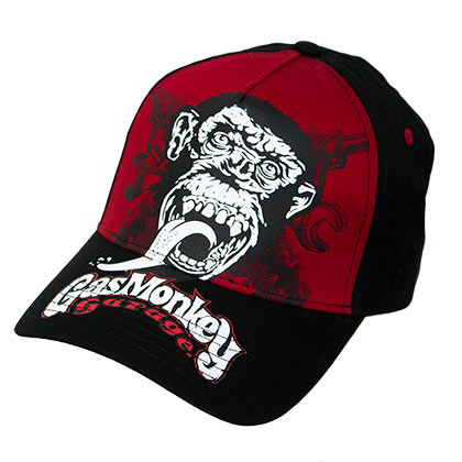 Gas Monkey Garage Red Snapback Hat