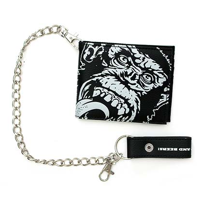 Gas Monkey Black Chain Wallet