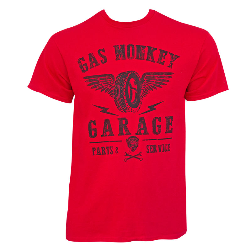 Gas Monkey Garage Mens Red Wings Logo T Shirt