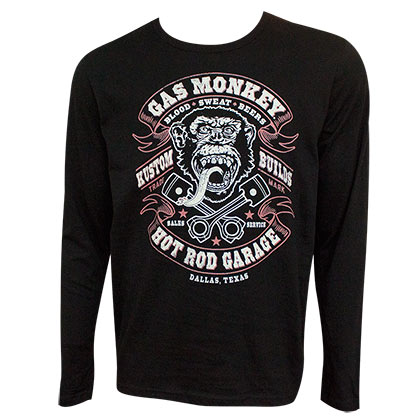 Gas Monkey Blood Sweat and Beer Long Sleeve Shirt