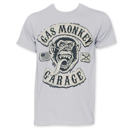 Gas Monkey Garage Men's Grey Tee Shirt