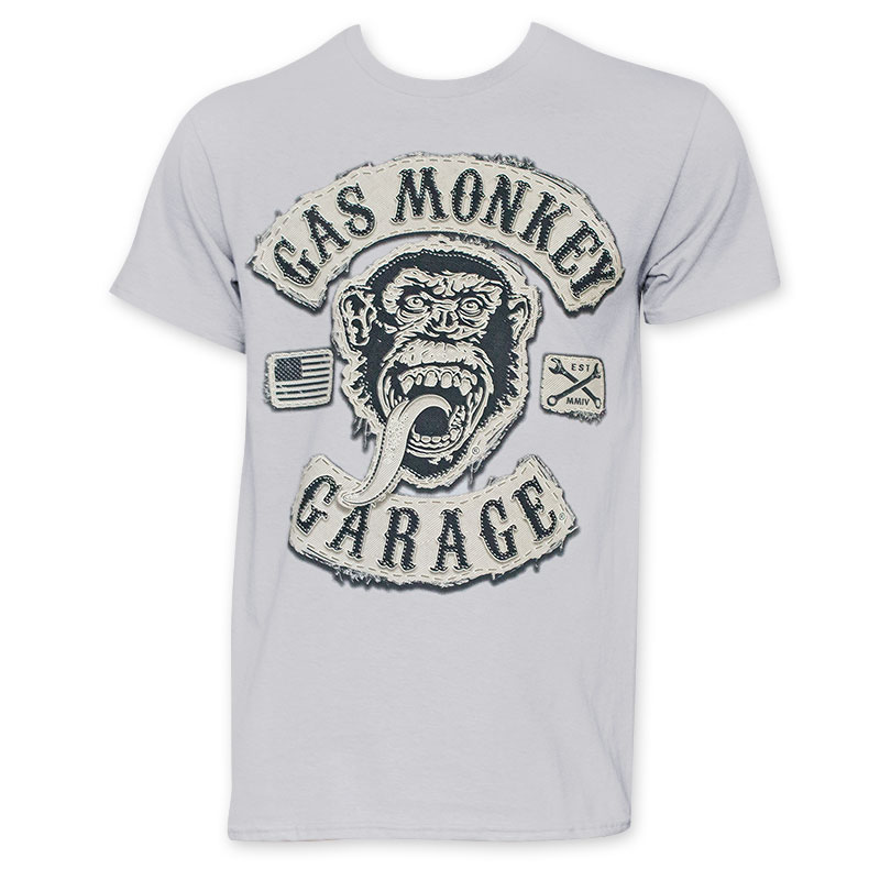 Gas Monkey Garage Grey Logo T-Shirt