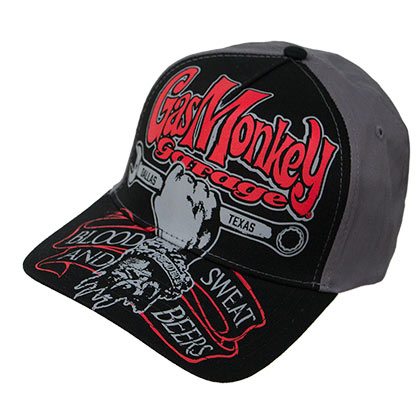 Gas Monkey Garage Black Texas Automobile Snapback Hat
