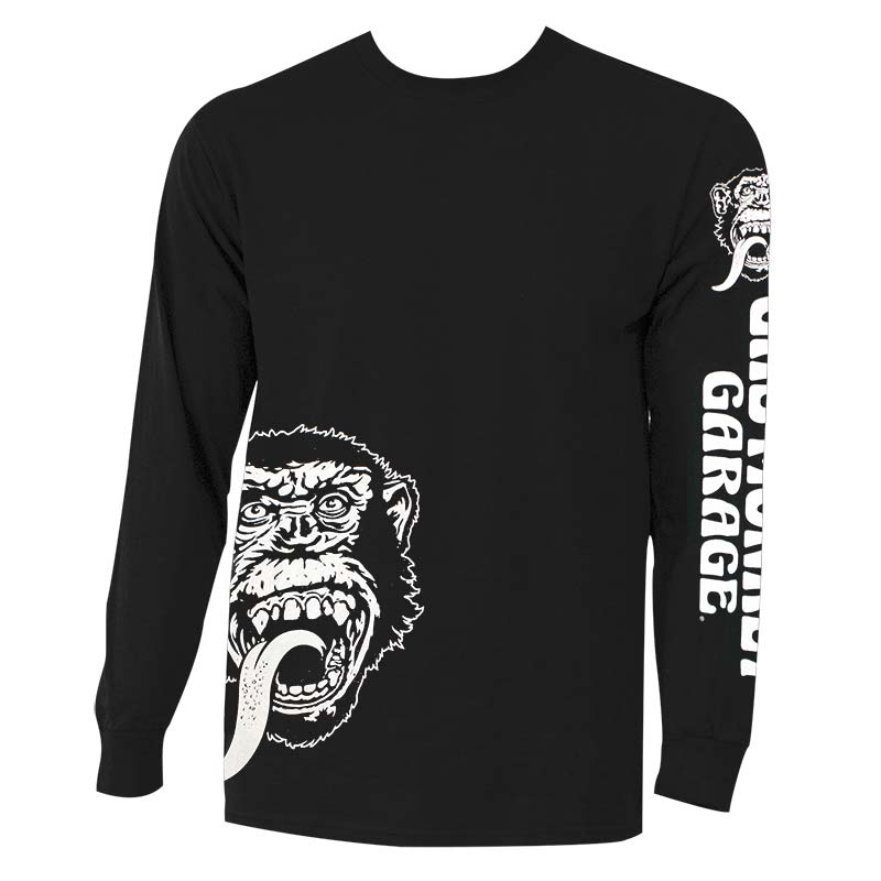 Gas Monkey Men's Black Long Sleeve Logo T-Shirt