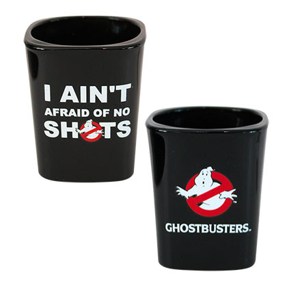 Ghostbusters Black Square Shot Glass
