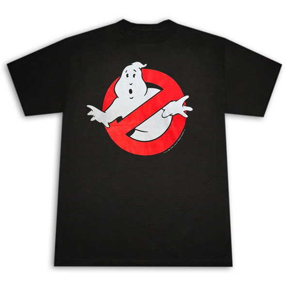 Ghostbusters Classic Logo Black Graphic Tee Shirt