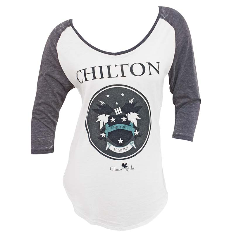 Gilmore Girls Women's White And Grey Raglan Tee Shirt