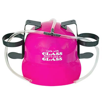 Girls With Class Pink Beer Drinking Hat