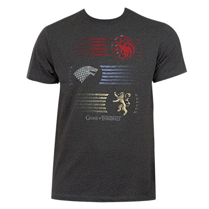Game Of Thrones Stripes Men's Grey T-Shirt