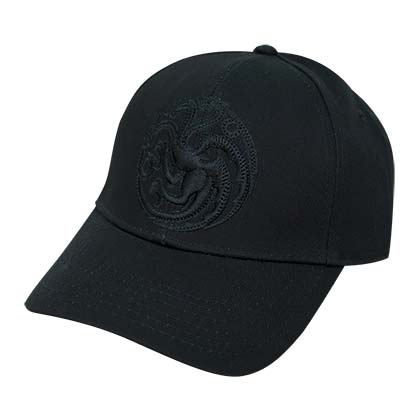 Game Of Thrones Black Targaryen Logo Hat