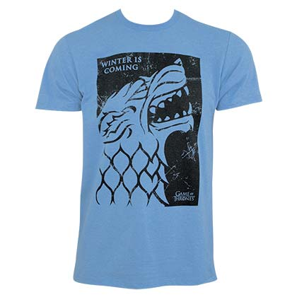 Game of Thrones Men's Blue Winter Is Coming T-Shirt