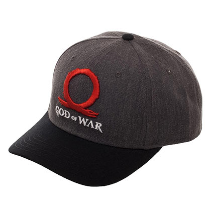 God Of War Video Game Logo Gray Black Men's Hat