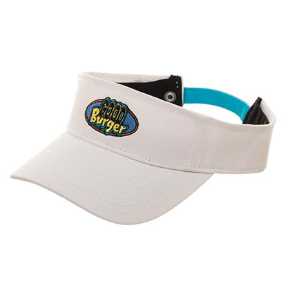 Nickelodeon Good Burger Logo White Visor