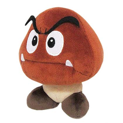 Super Mario Bros. Goomba 6 Inch Plush Doll