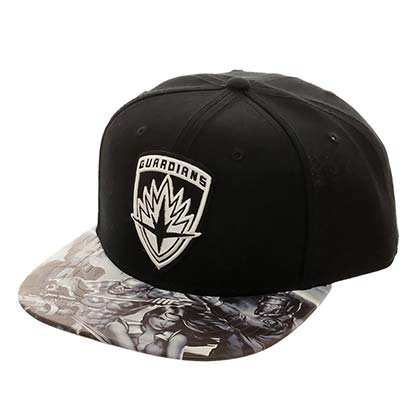 Guardians Of The Galaxy Men's Black Logo Hat