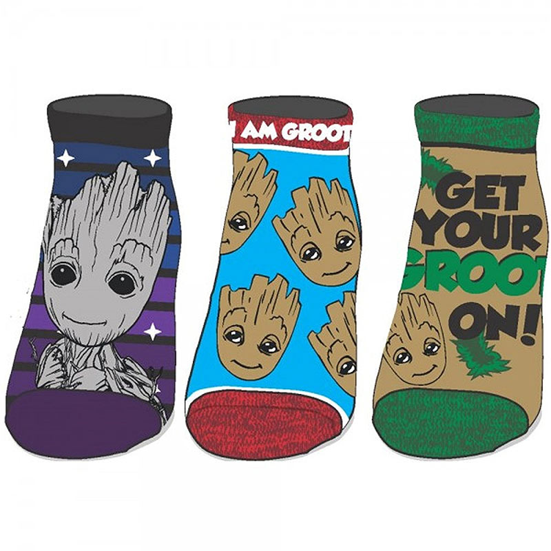 Guardians Of The Galaxy Women's 3-Pack Ankle Socks
