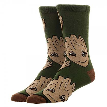 Guardians Of The Galaxy Green Groot Crew Socks