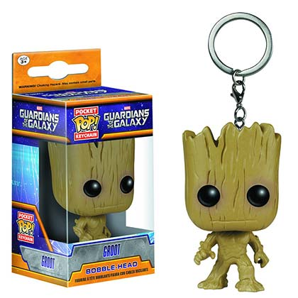 Guardians Of The Galaxy Groot Superhero Funko Pop Keychain