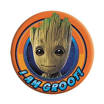 Guardians Of The Galaxy Groot Orange Button