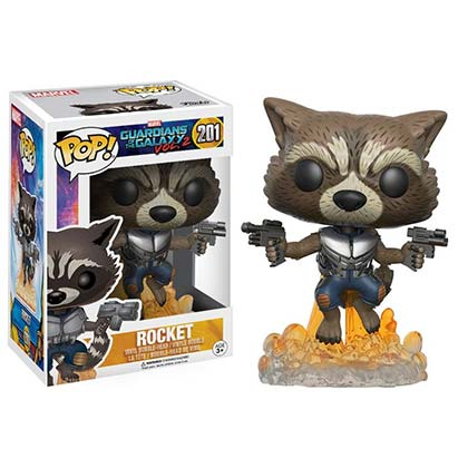 Guardians Of The Galaxy Rocket Raccoon Superhero Funko Pop Bobble Head