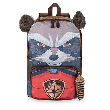 Guardians Of The Galaxy Brown 3D Rocket Raccoon Backpack