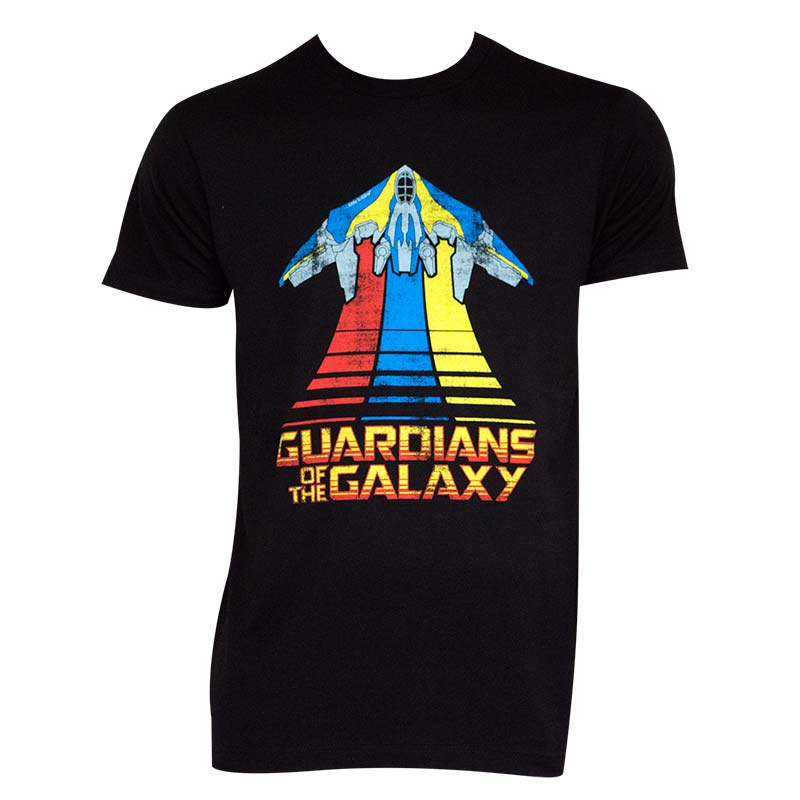 Guardians Of The Galaxy Men's Black Milano T-Shirt
