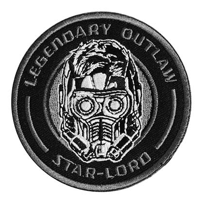 Guardians Of The Galaxy Black Legendary Outlaw Embroidered Star Lord Patch