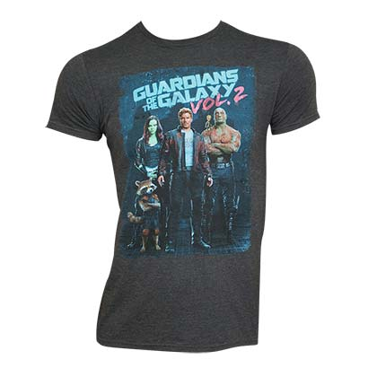 Guardians Of The Galaxy Men's Gray Vol. 2 T-Shirt