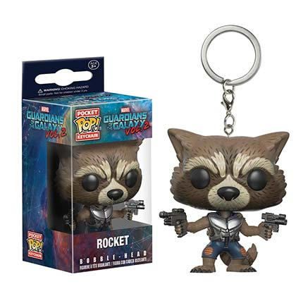 Guardians Of The Galaxy Funko Toy Rocket Raccoon Keychain