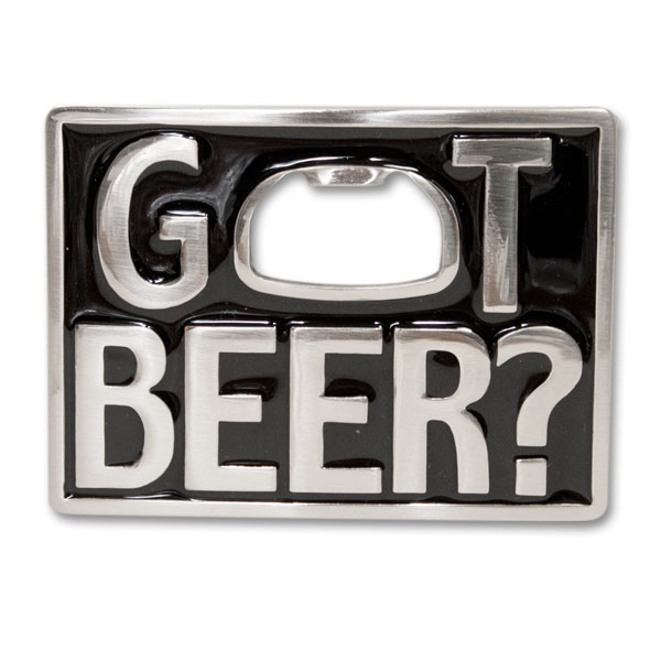 Got Beer Belt Buckle Bottle Opener