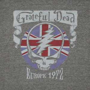 Grateful Dead Europe 1972 Heather Grey Graphic TShirt